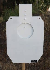 Rogue Shooting Targets Reactive IDPA A-Zone Steel Silhouette Targets